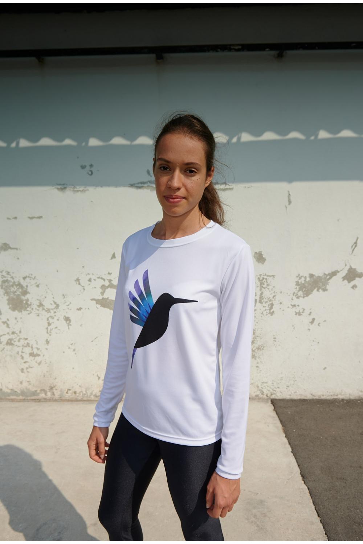 Maillot Gigi - Colibri Bleu & Violet - Football Femme - Vue de face