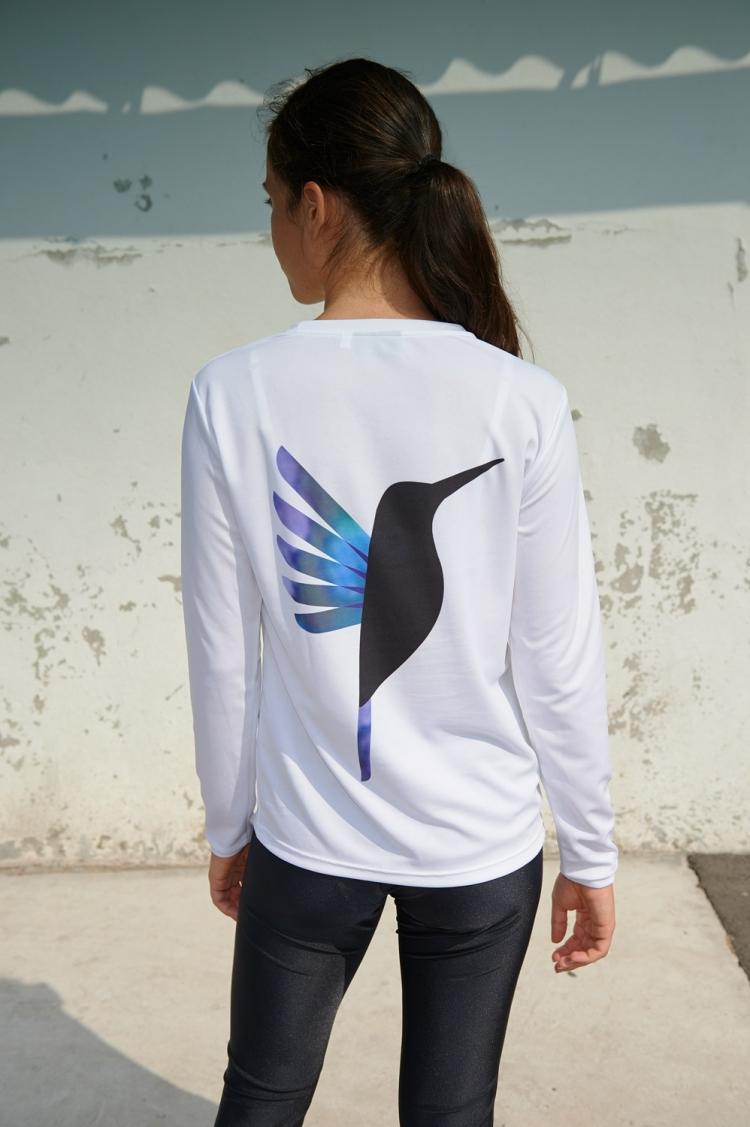 Gigi Jersey - Hummingbird Purple & Blue - Women's Football - Back view