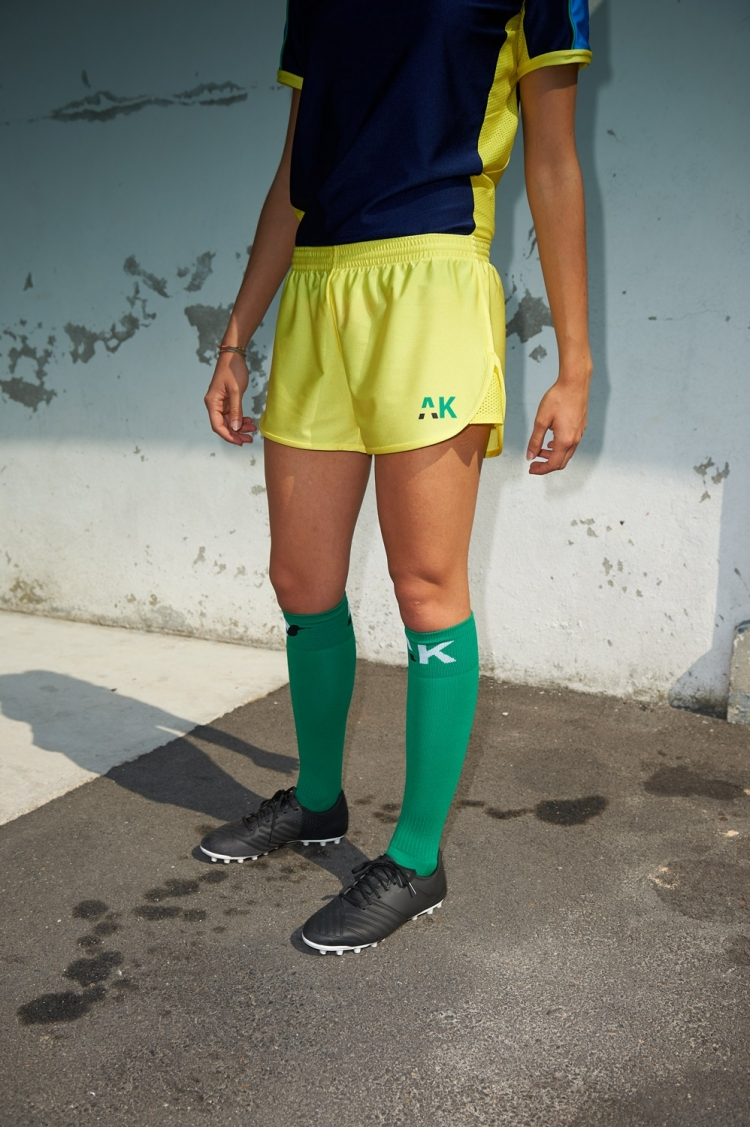 Nettie Primula Short - Yellow - Women's Football - Front view