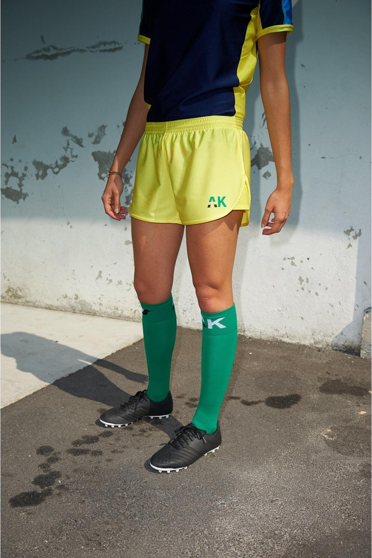 Nettie Primula Short - Yellow - Women's Football - Front view