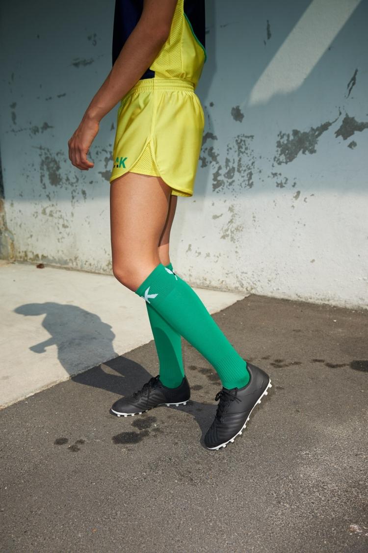 Short Nettie - Primula - Jaune - Football Femme - Vue de côté