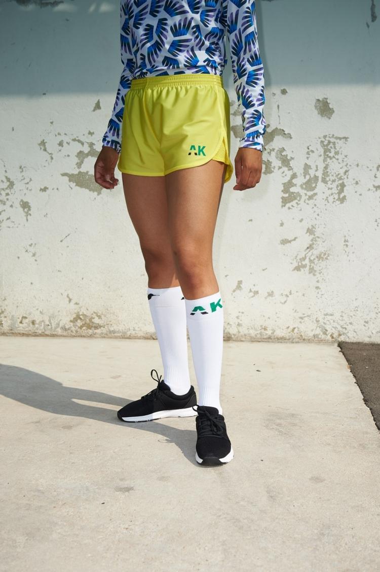 Short Nettie - Primula - Jaune - Football Femme - Vue de face