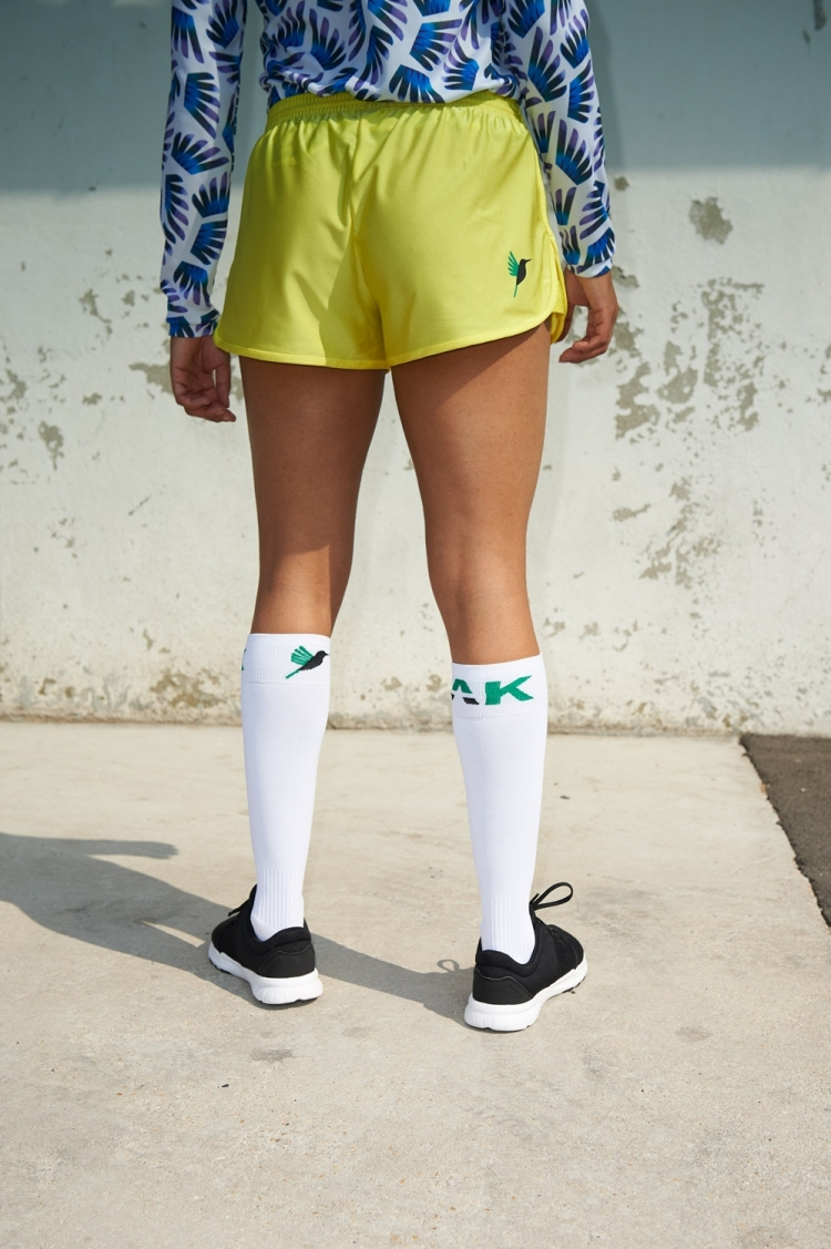 Nettie Primula Short - Yellow - Women's Football - Back view