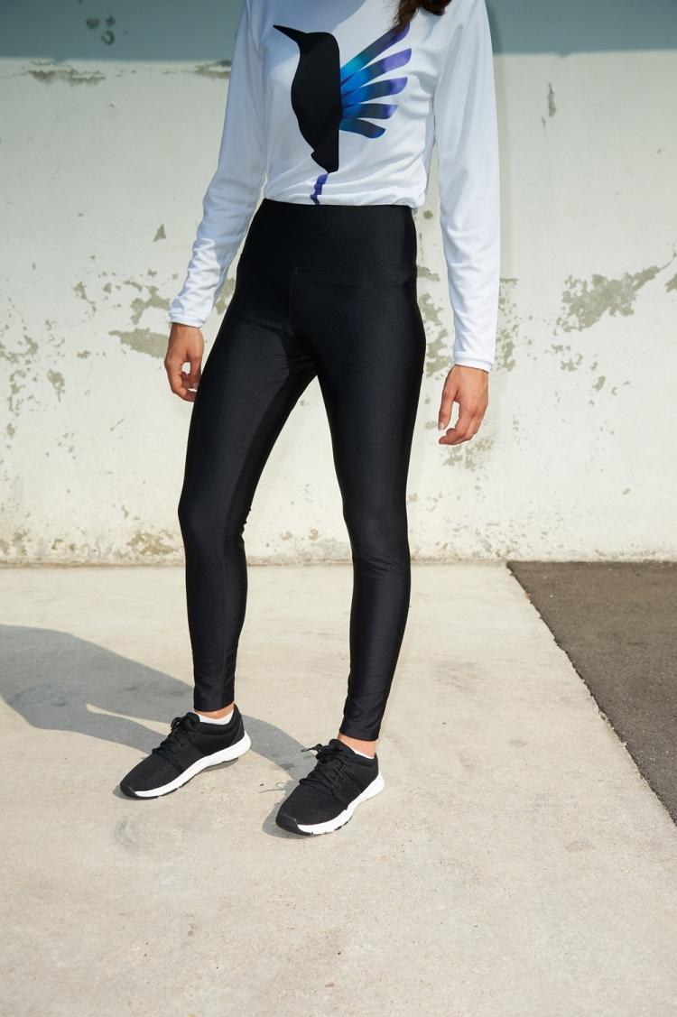 Legging Michelle - All Black - Football Femme - Vue de face