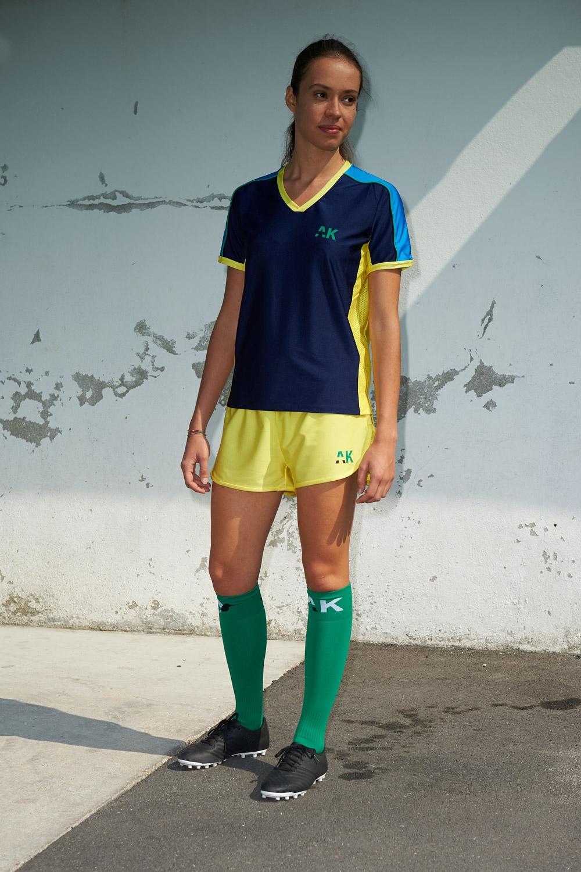 Maillot Honeyball Bleu Scuro - Football Femme - vue de face mi-distance