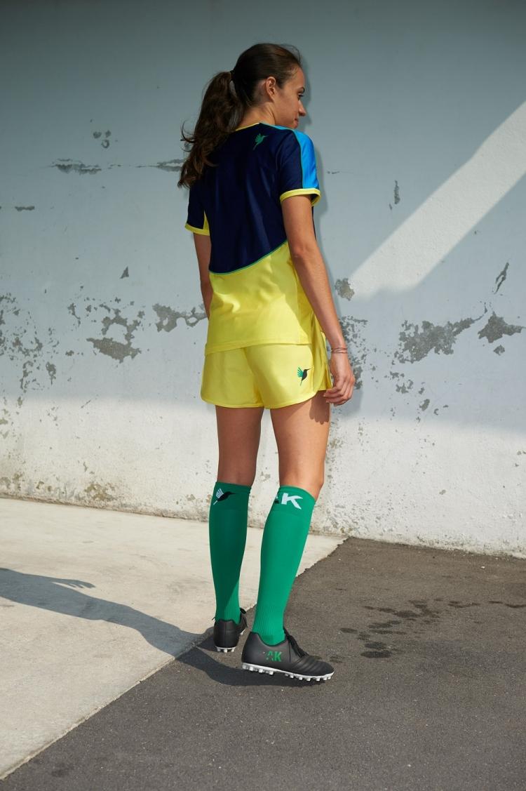 Maillot Honeyball Bleu Scuro - Football Femme - Vue dos 3/4