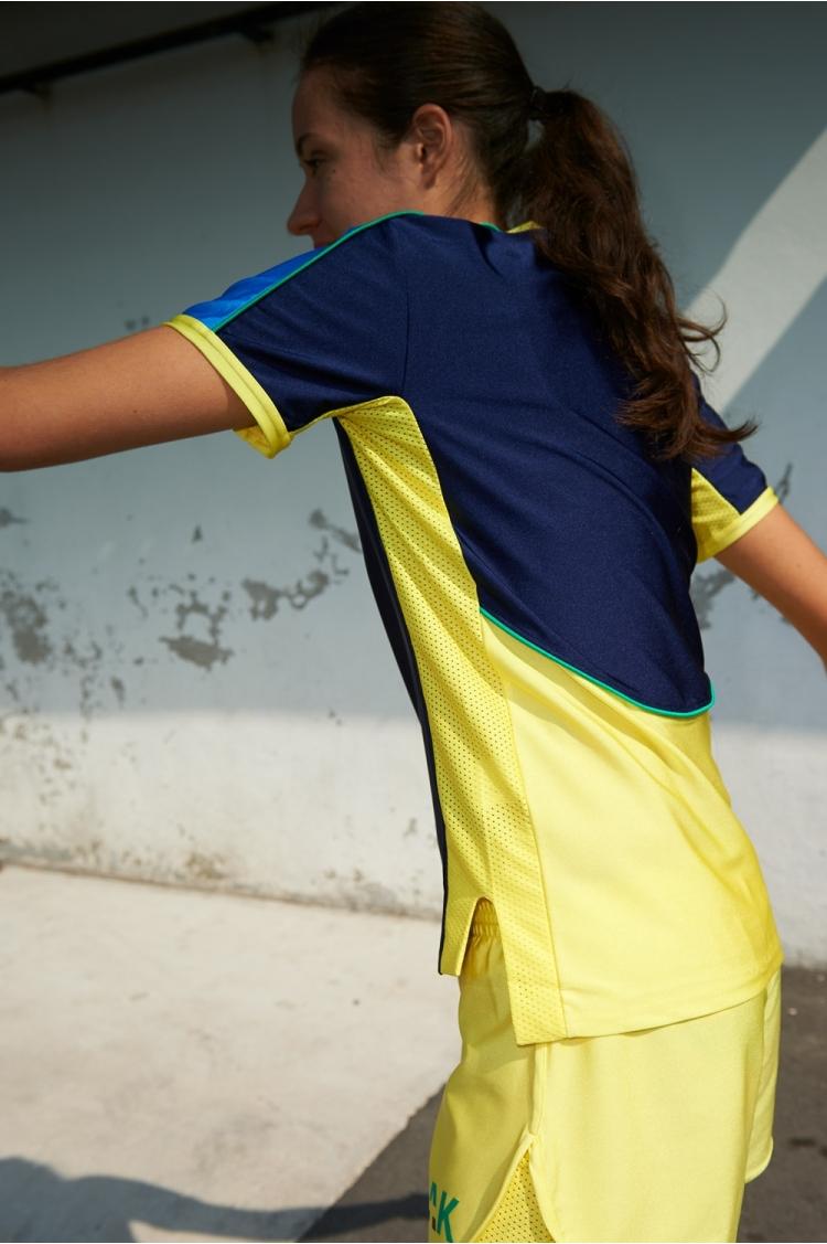 Maillot Honeyball Bleu Scuro - Football Femme - vue de côté