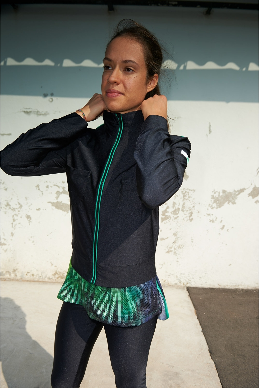 Lily Jacket - Black - Women's Football - Front view