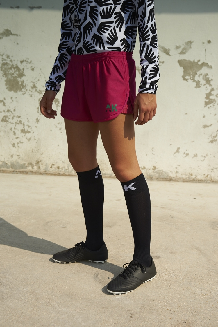 Short Nettie - Rose Jam - Football Femme - Vue de face 3/4