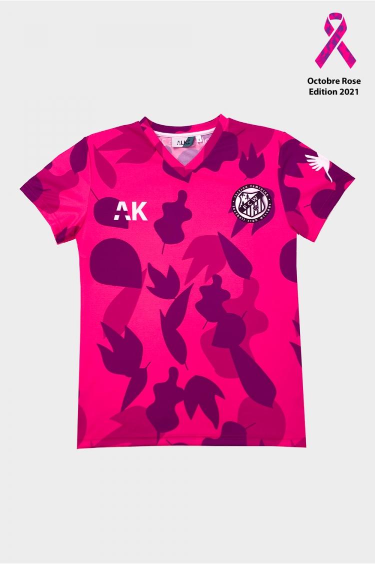 Maillot joueuse FC Wissous_Football Femme_Octobre Rose 21